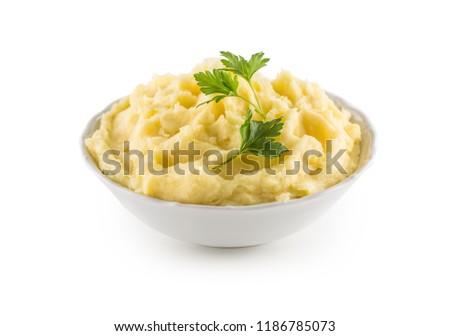 krumpli · porcelán · edény · fehér · háttér · kivágás - stock fotó © Digifoodstock