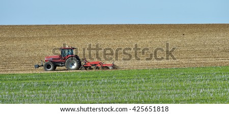 trattore · agricoltura · campo · tecnologia · industria - foto d'archivio © freeprod