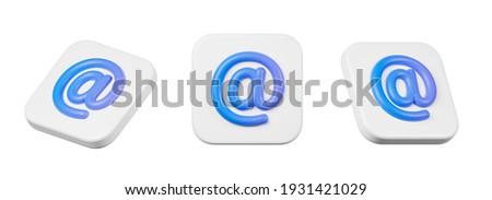 e-mail · azul · símbolo · 3d · render · ilustração · isolado - foto stock © grechka333