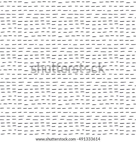 Vector Seamless Hand Drawn Horizontal Rounded Dash Strokes Pattern Stock photo © CreatorsClub
