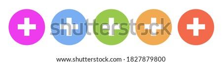 Szett orvosi ikonok izolált gombok szokatlan Stock fotó © JeksonGraphics