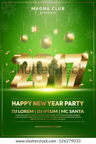 2017 music party flyer template with colorful lights on a textur Stock photo © SArts