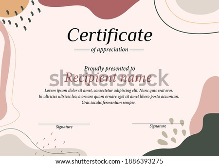 stylish certificate of appreciation award design template with g Stock photo © SArts
