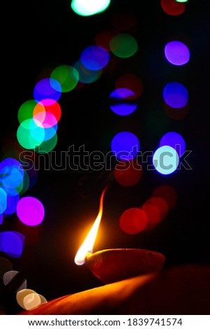 amazing diwali festival background with bokeh effect and decorat Stock photo © SArts