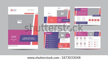 éves jelentés magazin branding borító oldal Stock fotó © SArts