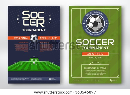 stylish sports flyer poster design for soccer tournament game Stock photo © SArts