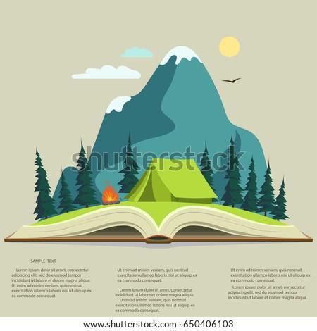 açık · infographics · kamp · yaşam · tarzı · olağandışı · dizayn - stok fotoğraf © andrei_