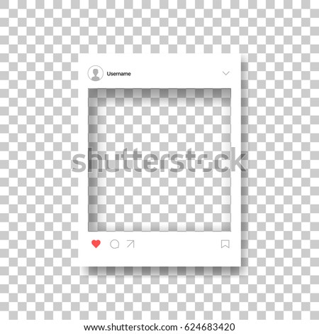 Social Photo Frame Vector. Transparent. Modern Mobile App Communication. Communication Sign Illustra Stock photo © pikepicture