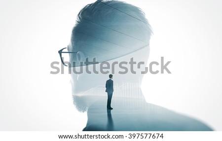 imprenditore · business · suit · nero - foto d'archivio © traimak