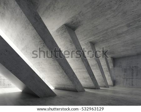 soyut · modern · mimari · boş · açmak · uzay · iç - stok fotoğraf © user_11870380