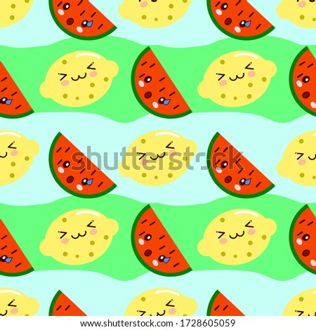Winking Yellow Lemon Fresh Fruit With Green Leaf Cartoon Mascot Character Giving A Thumb Up Stock photo © hittoon