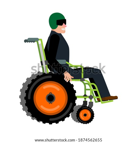 Wheelchair for off-road. Concept of an off-road vehicle for disa Stock photo © popaukropa