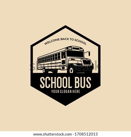 Okula geri web tasarım şablon sarı okul otobüsü Stok fotoğraf © ikopylov