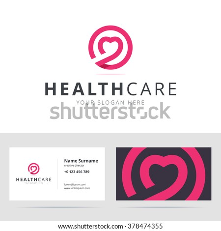 health care center logo flat design isolated illustration two hands holding a cross stock photo © kyryloff