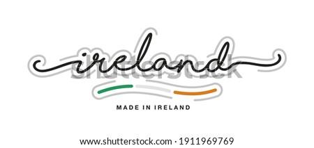 современных вектора Ирландия Label изолированный белый Сток-фото © kurkalukas