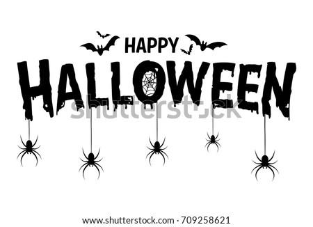 Cartoon Happy Halloween Text Stock photo © cthoman