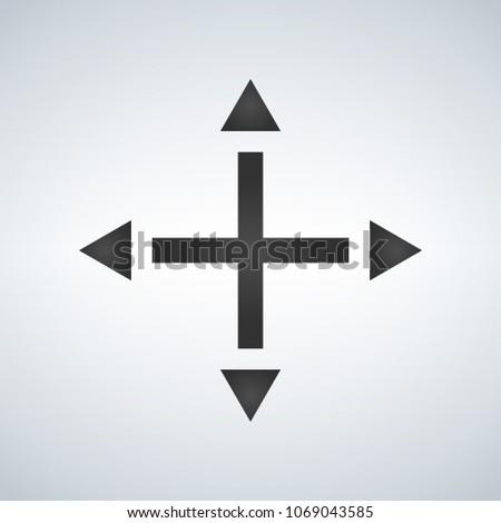 joystick arrows differnet directions, vector illustration isolat stock photo © kyryloff