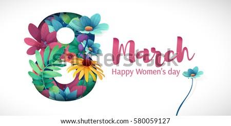 Gelukkig flyer felicitatie kaart bloemen Stockfoto © MarySan