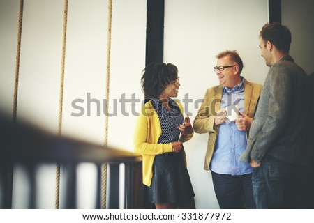 senior business people talking outdoors and discussing a documen stock photo © boggy