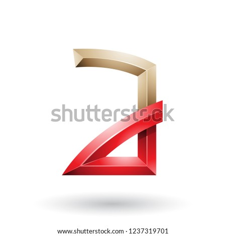 Beige and Red Embossed Letter A with Bended Joints Vector Illust Stock photo © cidepix
