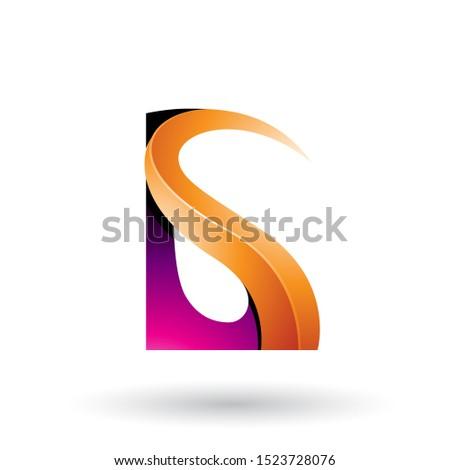 оранжевый пурпурный письма вектора изолированный Сток-фото © cidepix