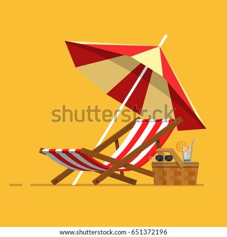 Napernyő vektor homok tengerpart nyári vakáció izolált Stock fotó © pikepicture