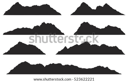 Mountain silhouette shape symbol. Outdoor icon isolated on white background. Stock vector element fo Stock photo © JeksonGraphics