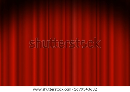 Red curtains background illuminated by a beam of spotlight. Red theater show curtain vector illustra Stock photo © MarySan