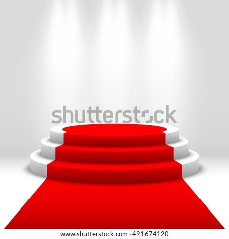 Vörös szőnyeg színpad pódium díj fények hatás Stock fotó © Andrei_