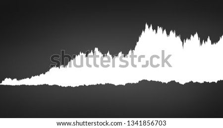 infographic of spectrum white noise sound waveform, chart, graph concept. Vector illustration isolat Stock photo © kyryloff