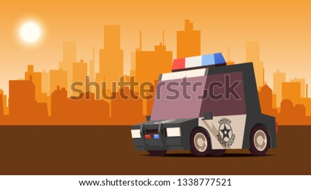 Polis sedan şehir manzara araba kruvazör Stok fotoğraf © tashatuvango