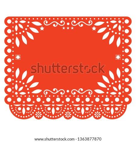 mexican · vettore · design · rosa · retro · carta - foto d'archivio © redkoala