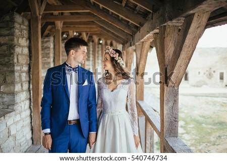 Horizontal image mains mariée marié Photo stock © amok
