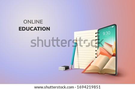 Online oktatás terv online oktatás tanul ikon Stock fotó © ikopylov