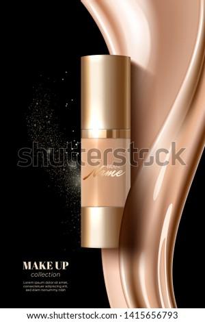 макияж реклама дизайн шаблона каталог кремом Сток-фото © MarySan