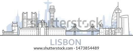 Lisboa paisaje urbano barrio antiguo vista edificio Foto stock © Winner