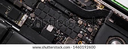 topo · ver · digital · dispositivos · preto · placa-mãe - foto stock © amok