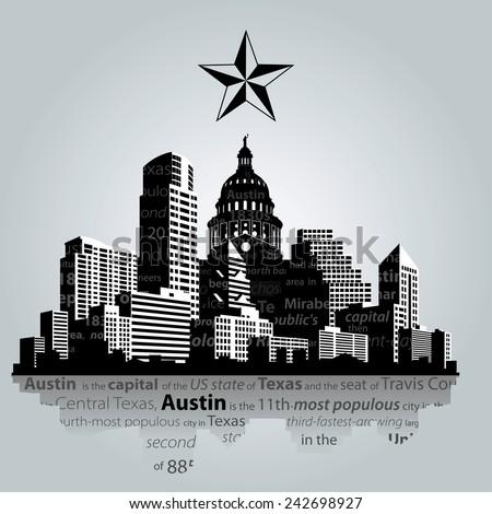 austin · Texas · panoramę · nice · mętny · dzień - zdjęcia stock © winner
