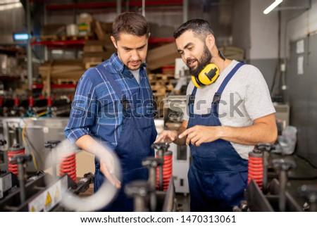 工場労働者 同僚 新しい 産業 ストックフォト © pressmaster