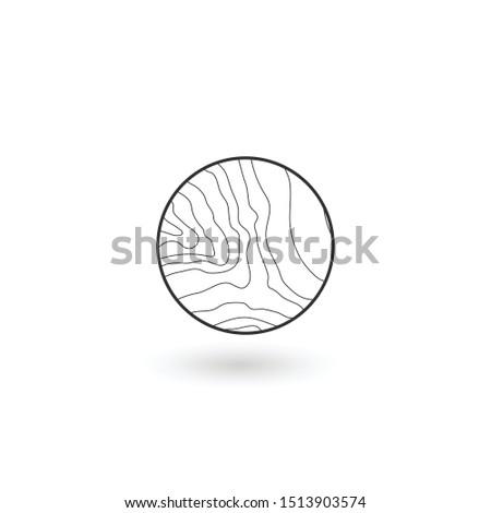 Dalgalı hatları doğrusal ikon su ağaç Stok fotoğraf © kyryloff