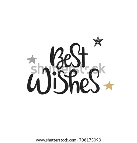 Best wishes. Lettering phrase on grunge background. Design element for poster, card, banner, flyer.  Stock photo © masay256