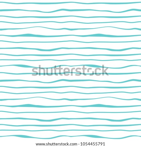 Vector seamless striped textile texture - curve blue and white d Stock photo © ExpressVectors