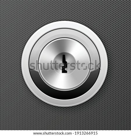 Modernes serrure porte lock icône clé Photo stock © gomixer