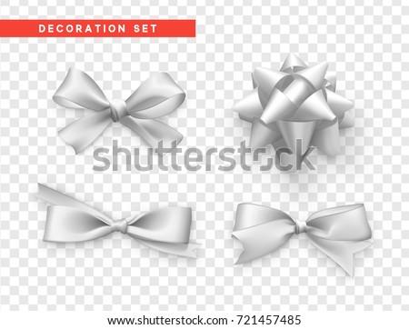 Luxe vakantie witte geschenkdoos zijde lint Stockfoto © Anneleven