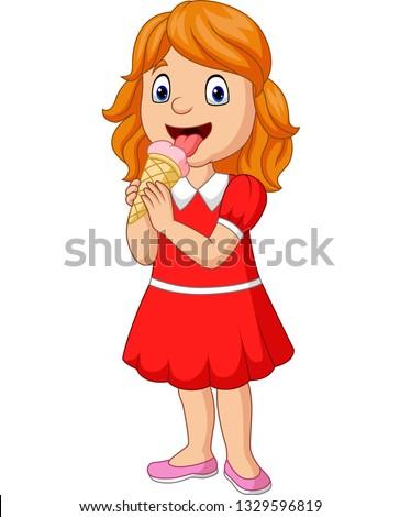 Mooie blond vrouw ijsje meisje bril Stockfoto © ElenaBatkova