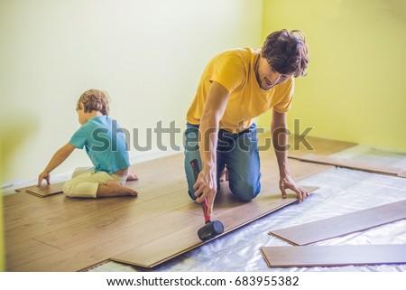 父から息子 新しい 木製 赤外 ストックフォト © galitskaya