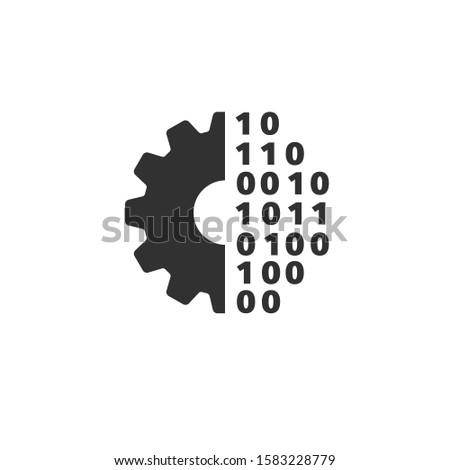 Mecânico engrenagem eletrônico dígitos projeto processo Foto stock © kyryloff