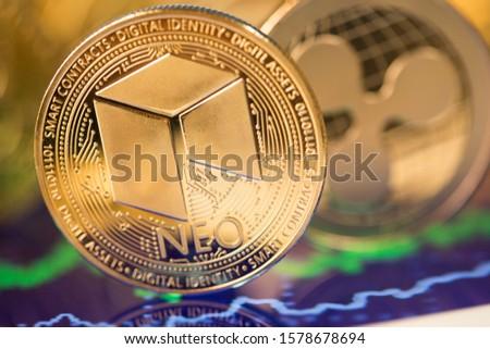 Bitcoin pièces argent monnaie Photo stock © JanPietruszka