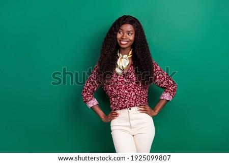 Fotó jól kinéző női sötét haj piros kötött Stock fotó © vkstudio