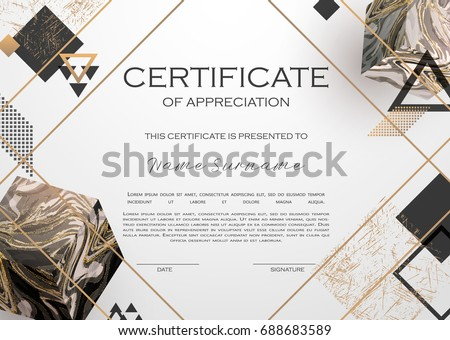 certificate of appreciate modern golden template design Stock photo © SArts